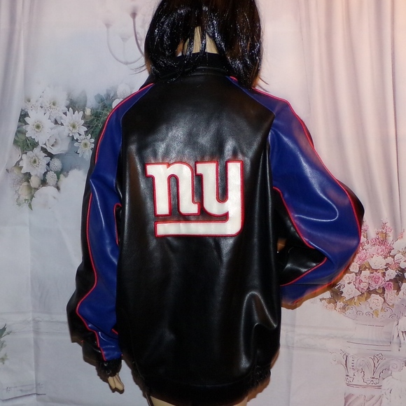 sports shoes 5117d 177ea New York Giants NFL Jacket Coat NFL Faux Leather